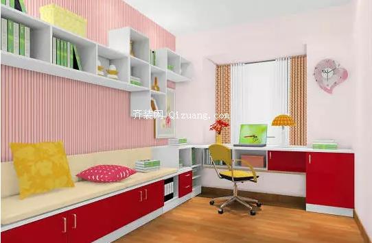 卧室飘窗设计,巧妙变身小书桌