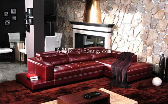 真皮休闲沙发