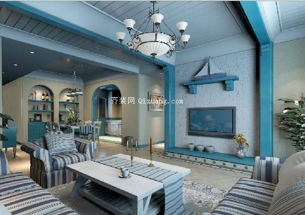 地中海风格家具效果图