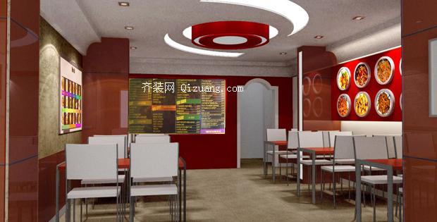 快餐店装修效果图