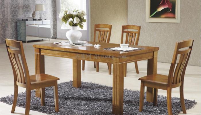 实木餐桌效果图