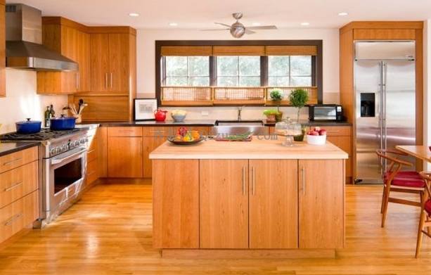 厨房地板安装效果图