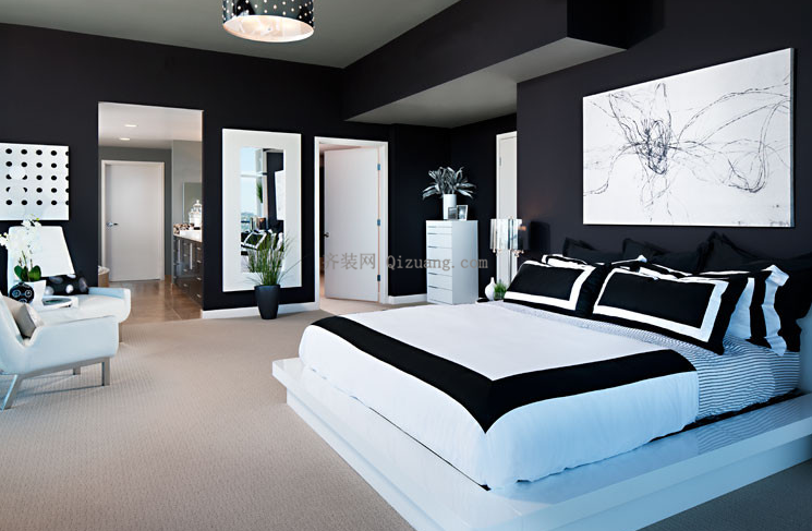 现代简约风格卧室效果图欣赏