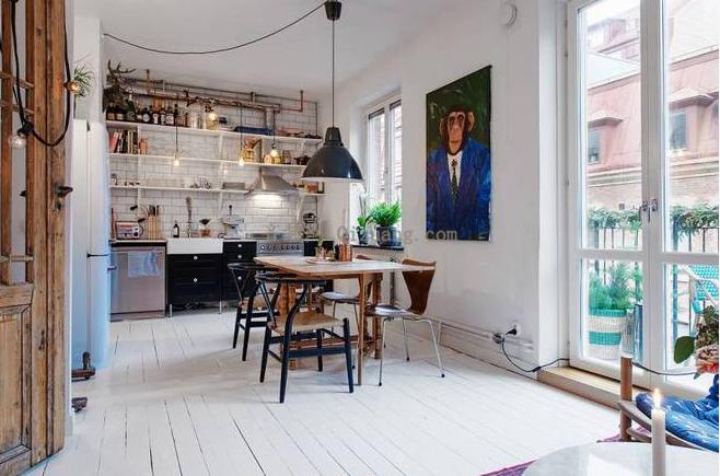 北欧风格厨房效果图