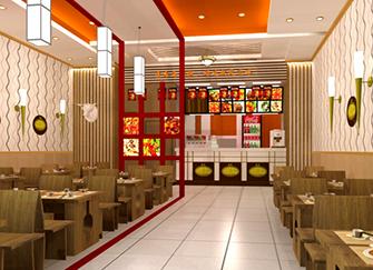 中式快餐店如此装修 客源将大门都堵住了