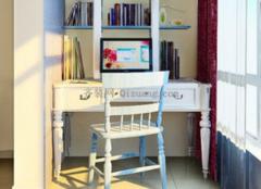 书房装修空间不够怎么办? 阳台来凑!