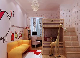 儿童房手绘墙 孩子会喜欢上自己的房间
