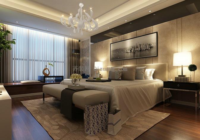 卧室装修之窗帘灯饰