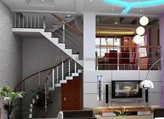 复式楼梯装修效果图,小材大用