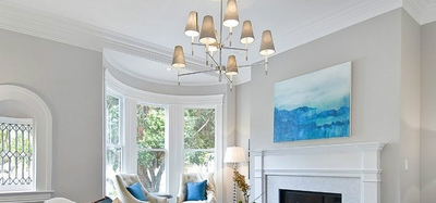 客厅吊灯装的好,增财添福