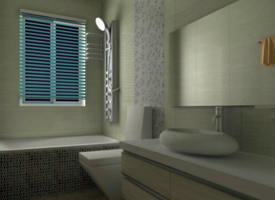 卫生间瓷砖效果图