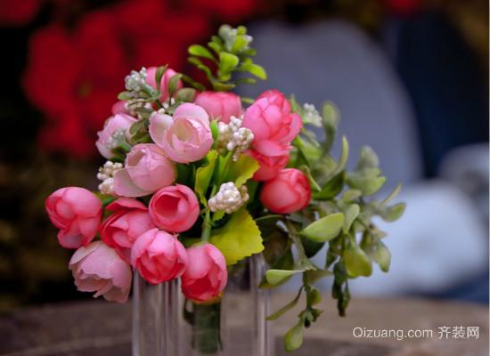 绢花插花图片