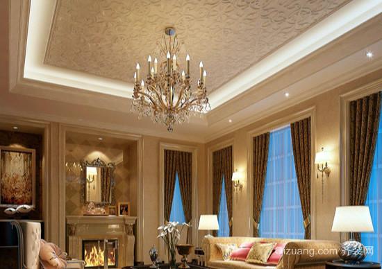 客厅水晶吊灯效果图