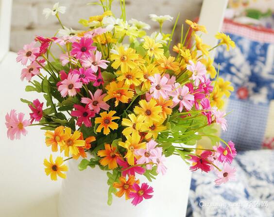 绢花插花效果图