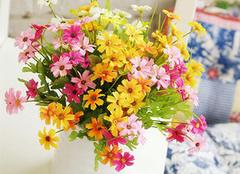 绢花插花图片,家居环境更清新