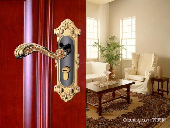 室内门锁效果图