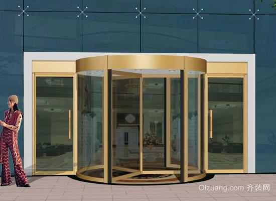 不锈钢玻璃门效果图