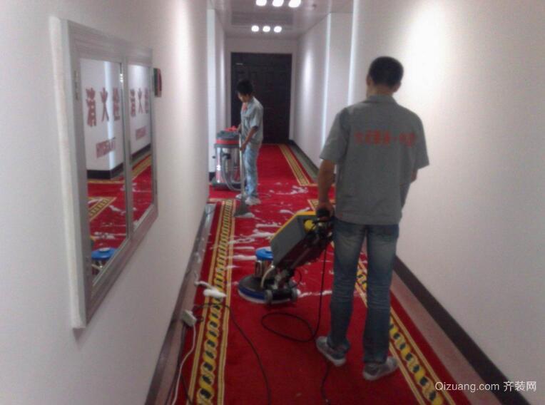 地毯清洁效果图