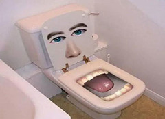 高科技厕所太开放 岛国妹子美国如厕羞红脸