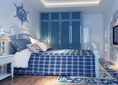 地中海风格卧室 夏日的一抹清凉