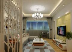 65平米两居室:暖色调点缀室内主题