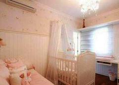 baby真的怀孕了?粉嫩嫩儿童房装修相当用心