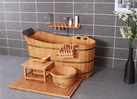 几种常见木桶浴缸尺寸整理