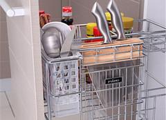厨房收纳好帮手  橱柜拉篮尺寸及选购方法