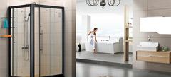 浴室玻璃隔断 卫生间也能不同凡响