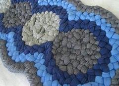 旧毛线手工编织地垫的步骤 手工编织地垫款式
