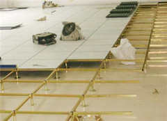 防静电地板清洗方法及其维护