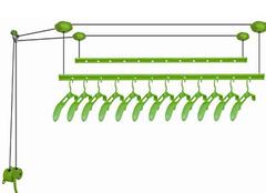 手摇升降式晾衣架结构全方面分析