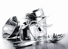 厨房里选用304不锈钢 长保家人安康