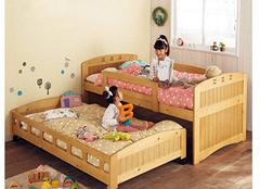 三大系列橡木儿童床更适合女宝宝