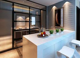 开放式厨房玻璃隔断墙如何装修及注意事项