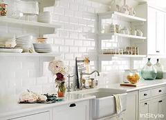厨房墙砖铺贴小诀窍  小厨房也能美到爆