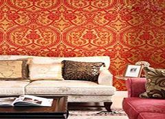 复古碎花壁纸风格 让居室焕然一新
