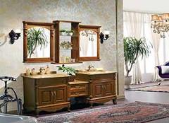 颜值与实力并存的仿古浴室柜 让你分分钟爱上浴室