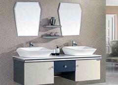 箭牌双盆浴室柜 给你不一样的卫浴体验
