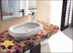 砖垒浴室柜 自己动手砌出你的个性浴室柜
