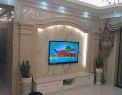 电视背景墙选用大理石 安装施工要做好准备