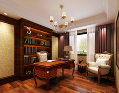 欧式复古书房怎么设计? 四个要点把握好