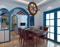地中海风格书房设计要点 纯美的色彩方案