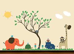 儿童房墙体彩绘怎么设计? 孩子喜欢最重要