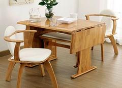 实木折叠桌的优点有哪些 空间小也不怕不怕啦