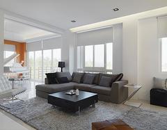 客厅沙发搭配技巧案例 还需软装出马搞定!