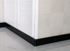 瓷砖踢脚线施工铺贴 自己也能完成安装