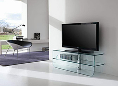 玻璃电视柜风格装饰 不同材质给你不同搭配