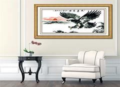 客厅装饰画挂什么好?大幅十字绣给你新鲜感