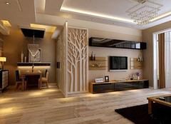 木质电视背景墙施工解析  让家居更清新自然